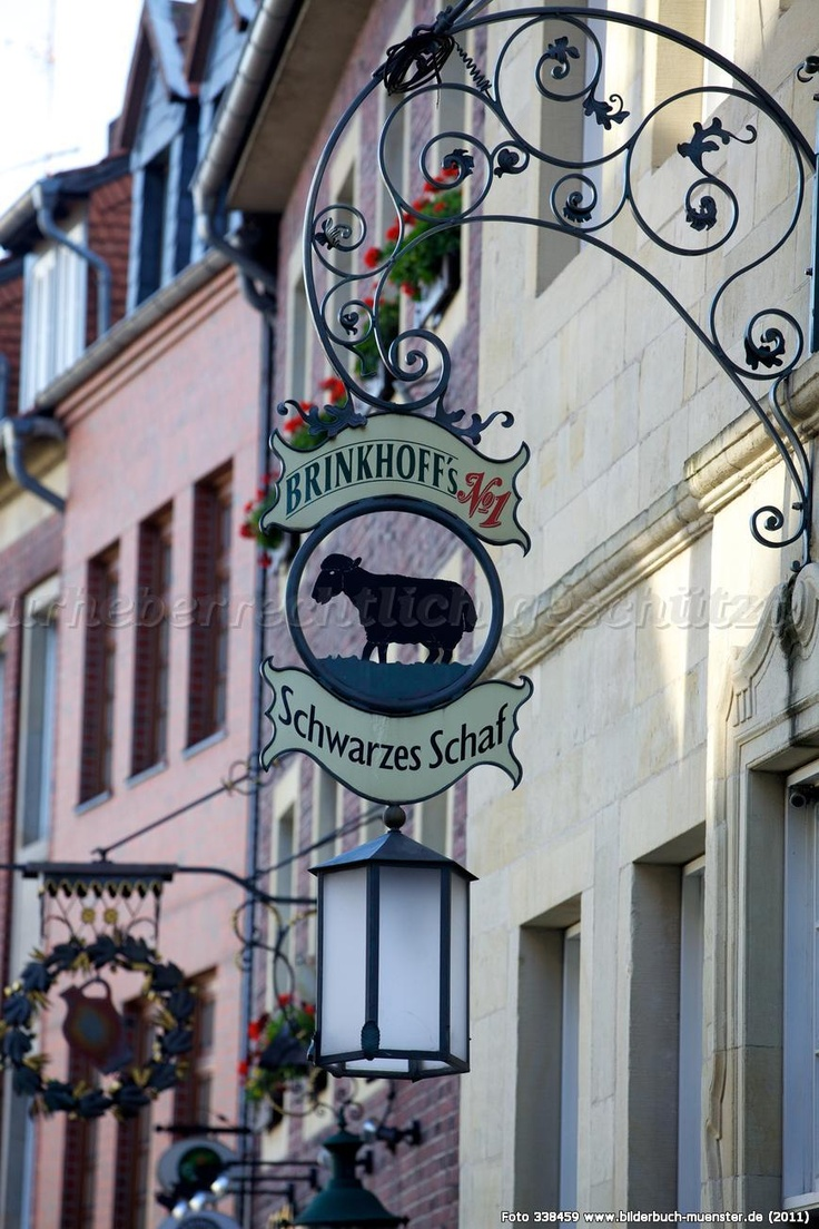 #converttoblack - Münsters famous bar 'Das schwarze Schaf - the black sheep'