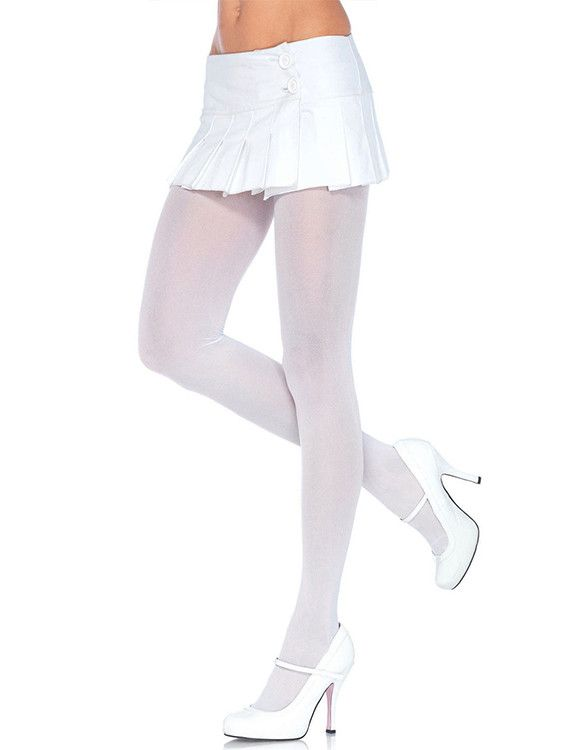 These Leg Avenue nylon opaque white tights for women were essentially made to go hand in hand with the Bambino Amore apron line-up. They look amazing paired with our Rapunzel Entangled apron, our Silv