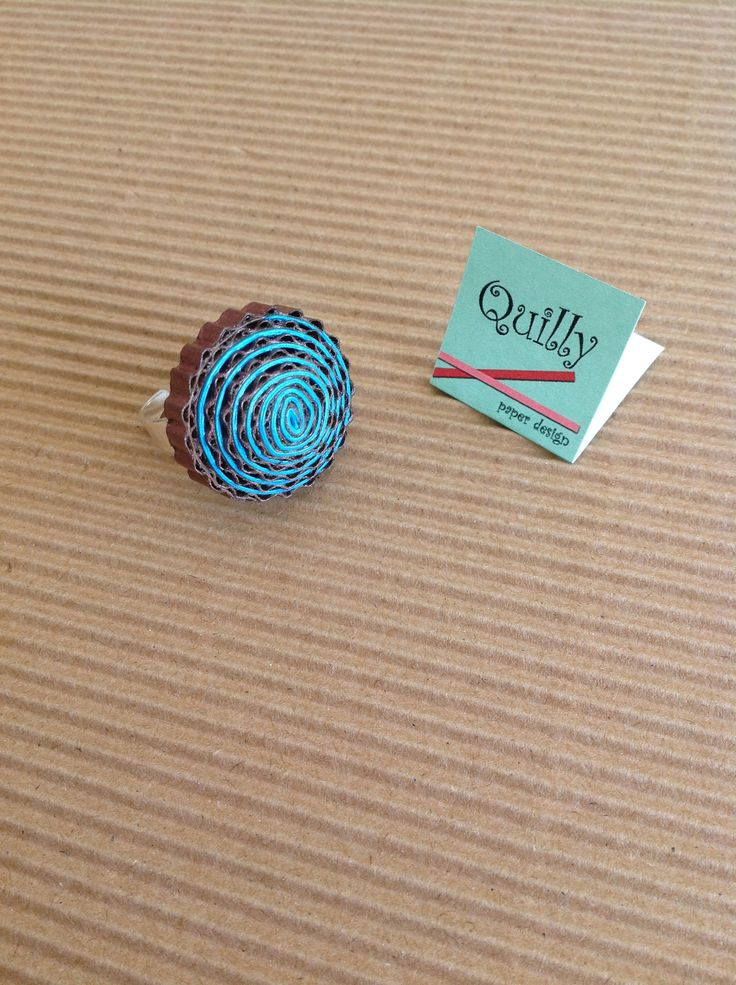 """Anello """"circle_03"""", ring """"circle_03"""" paper jewel by Quilly Paper Design"""