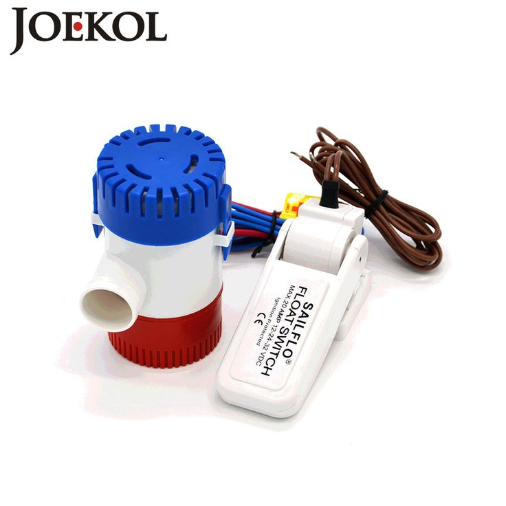 Free shipping dc 12v/24v bilge pump with bilge Float Switch 1100GPH electric water pump for boats,submersible boat water pump