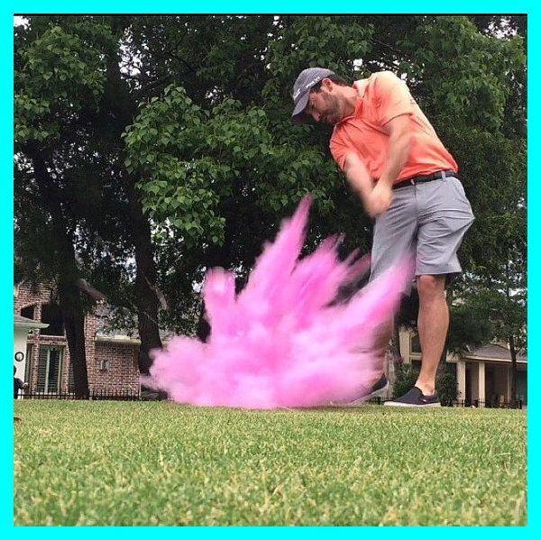 Golf Ball Powder Confetti Gender Reveal Golf Ball In Pink Or Blue Designed With 4x Powder Golf Gender Reveal Confetti Gender Reveal Gender Reveal