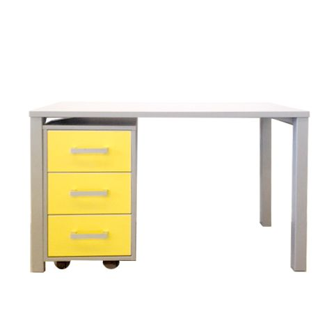 Urban Desk and Moby in Silver Haze with Yellow GLOSS drawers <3