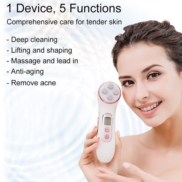 beauty machine 5 in 1 rf ems led mesotherapy skin care tool facial photon rejuvenation anti aging lift face massager emporiaz skin care tools skin care skin care devices