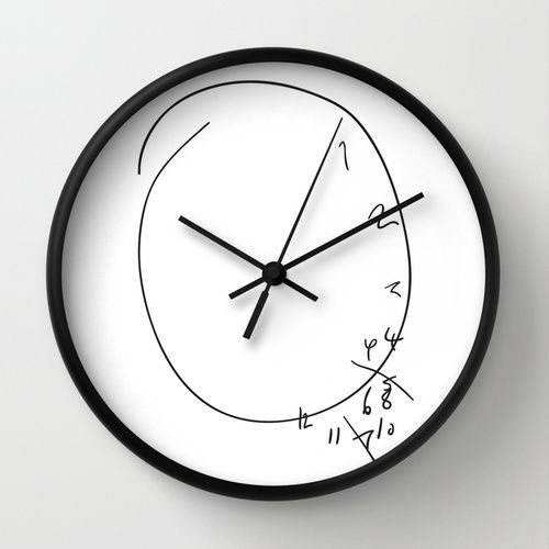 Savoureux Since Society6 does clocks now, I HAD to make this.I'm sorry I'm a terrible person.