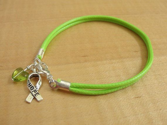Lime Green Awareness Cotton Bracelet / Anklet - Muscular Dystrophy, Lyme Disease, Non-Hodgkins Lymphoma, Duchenne Muscular Dystrophy DMD on Etsy, $6.00