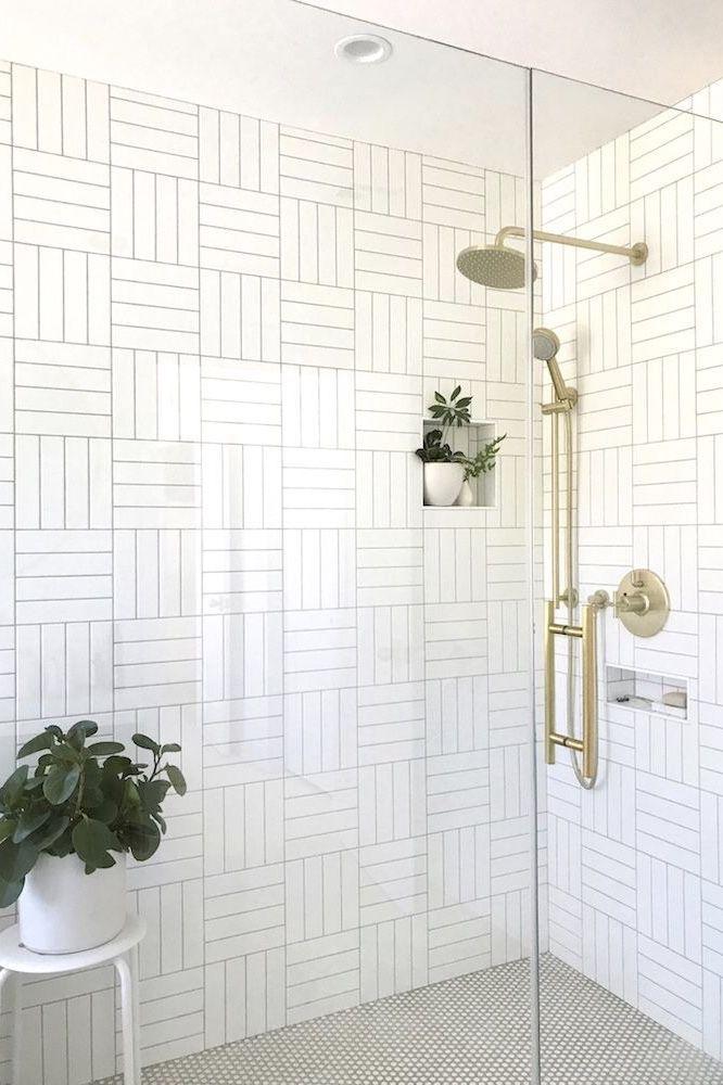 White Interiordesign Minimal Design Bathroom Tile Renovation