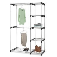 AmazonBasics Double Rod Freestanding Closet (Silver) $26.87