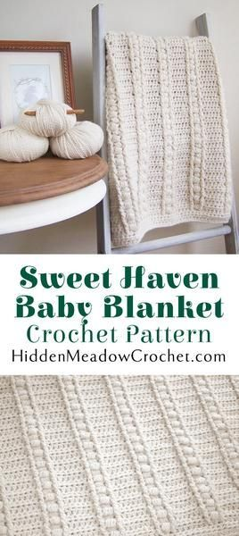 Sweet Haven Baby Blanket Crochet Pattern | We're loving this crochet stitch pattern!