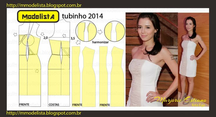 strapless tube dress sewing pattern - photo#8