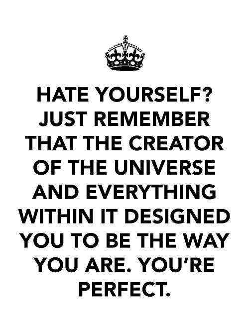 You are perfect: Remember This, Hate, God, Jesus, You R Perfect, Christ Center, Things, Living, Inspiration Quotes