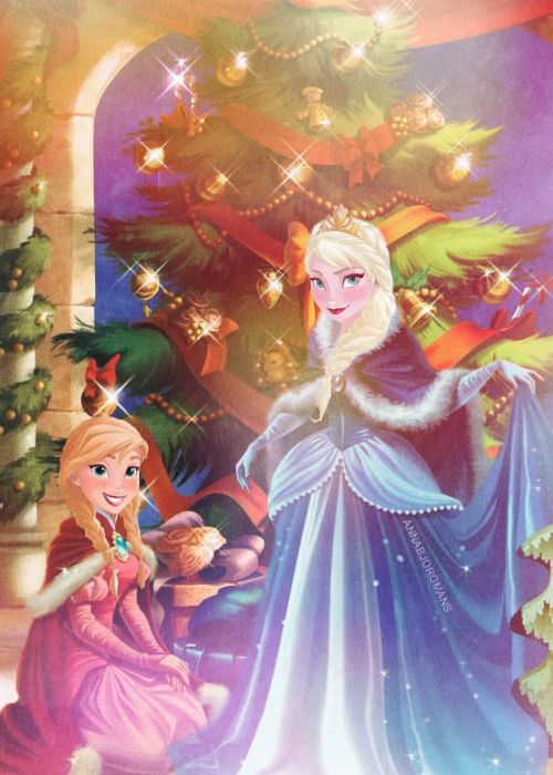 ❅ Arendelle Christmas ❅: Anna and Elsa prepare for the Winter Ball!