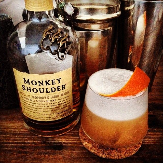 A lovely whiskey sour made with #MonkeyShoulder blended malt whiskey. Great for any occasion #ThreeMartiniLunch #TML #CreativeCustomCatering #Cocktail