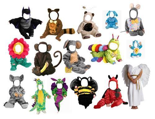 Детские костюмы и шаблоны для фотомонтажа бесплатно