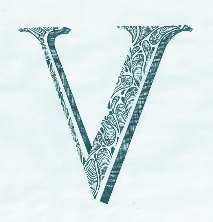 Alphabet Letter Designs Art: 116 Best V V V V V V !!! Images On Pinterest
