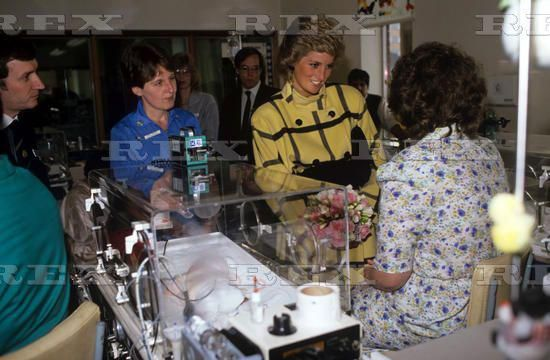 February 11 1988 Diana, Patron, British Lung Foundation, visited Faculty of Medicine of the University of Southampton at the Princess Anne Hospital and Southampton General Hospital to see research projects and to open a new laboratory