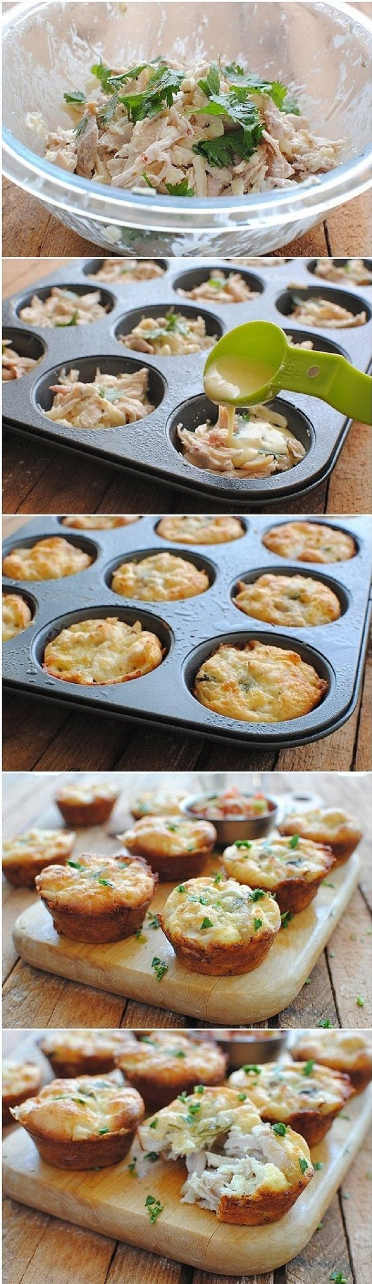 Mini Tex-Mex Chicken and Cheese Pies - 14 Delightful Thanksgiving Dinner Minis   GleamItUp