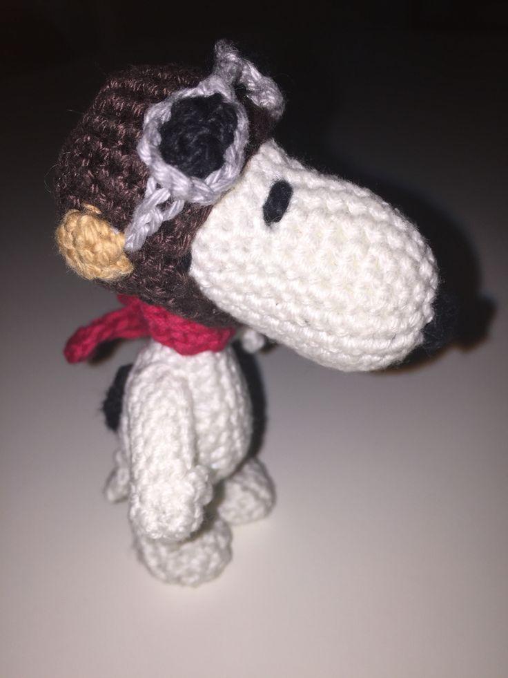 Snoopy alias pilot Snoopy crochet