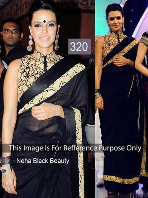 Neha Black Beauty Bollywood Sarees Online on Shimply.com