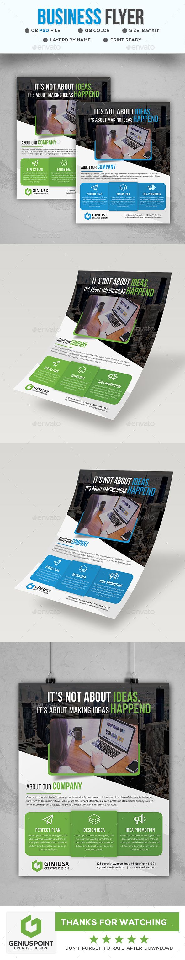 Business #Flyer Template - #Corporate Flyers