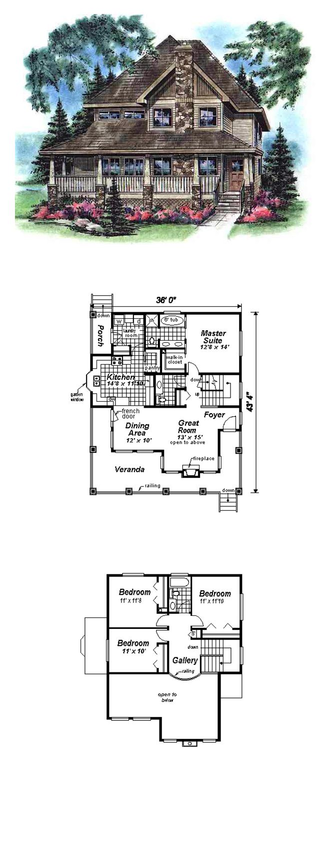 50 best images about bungalow house plans on pinterest - Bungalow house plans with attached garage ...