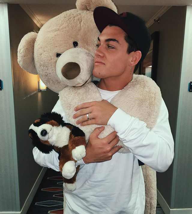 "Grayson Dolan ❤ :""Got this bear, dog, earring, and ring from some beautiful fans I met this weekend! Having the best time of my life on tour  LOVE YOU ALL SO MUCH ❤️ Btw I named this dog FlapJack and he's coming on tour with us ""."