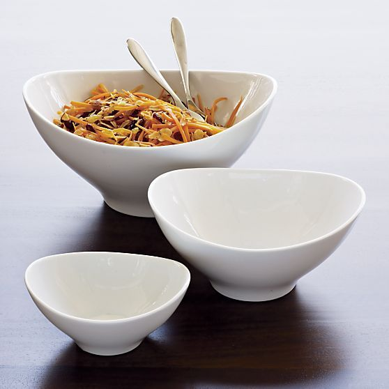 sleek lined serving bowls