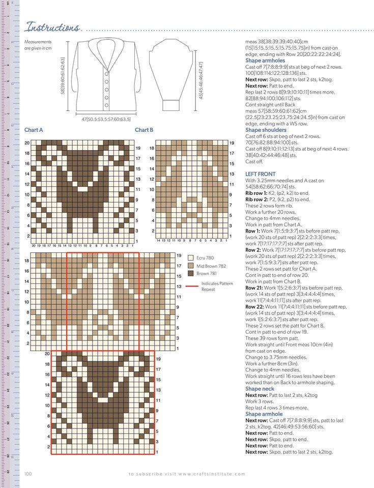 ram and ewe colourwork knitting chart