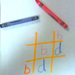 Use the popular game of tic-tac-toe to reinforce skills....b/d, letters, numbers, sight words, whatever your students need.