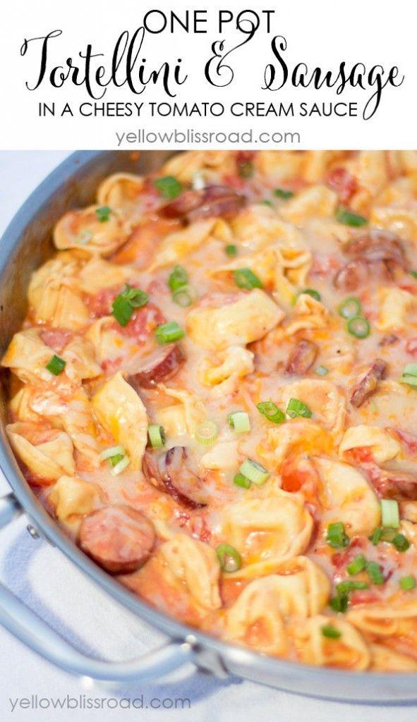 Recipe For Tortellini and Sausage in Tomato Cream Sauce