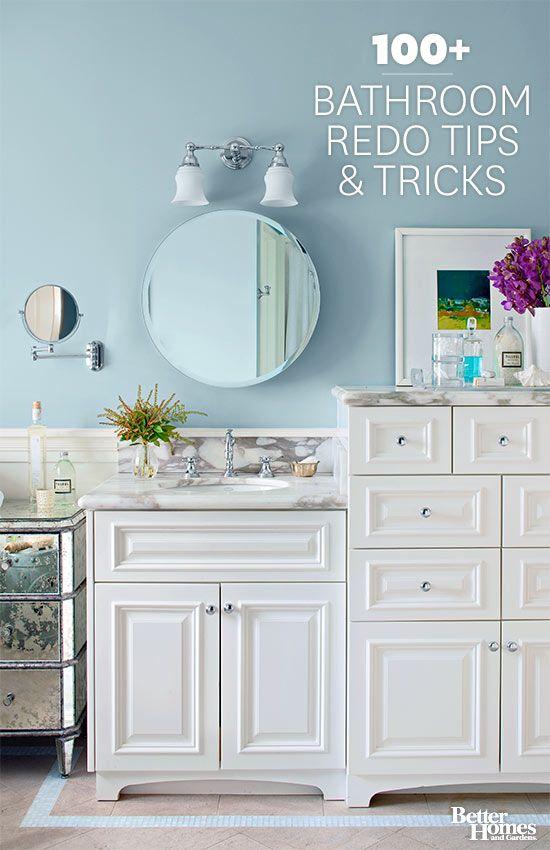 100+ Bathroom Redo Tips & Tricks