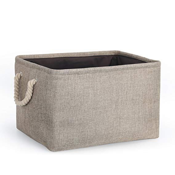 Cosyland Storage Bin Box Large Capacity Organizer Basket With Handle Rope Home Decor Shelf Basket Size X Jewelry Studio Space Home Decor Shelves Basket Shelves
