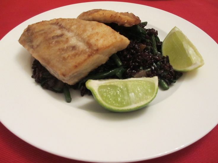 Yesterday's stir fried riso nero venere with vegetables and Nile perch. #ShareDish