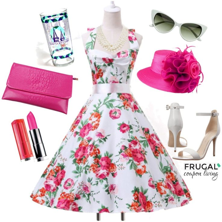 Frugal Fashion Friday Kentucky Derby Outfit - Polyvore Fashion for The Kentucky Derby! Details on Frugal Coupon Living.