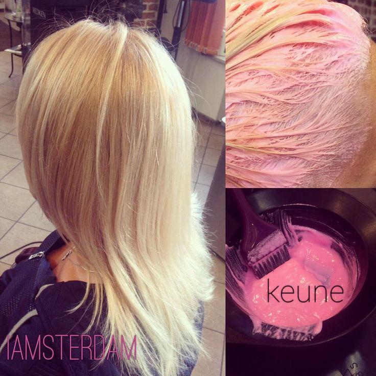 Это краска #keune для настоящих принцесс!👸🏼 Розовенькая! 🌷Мастер - Никки Алена #салонкрасотыспб #iamsterdamspb #стилистспб #питер #спб