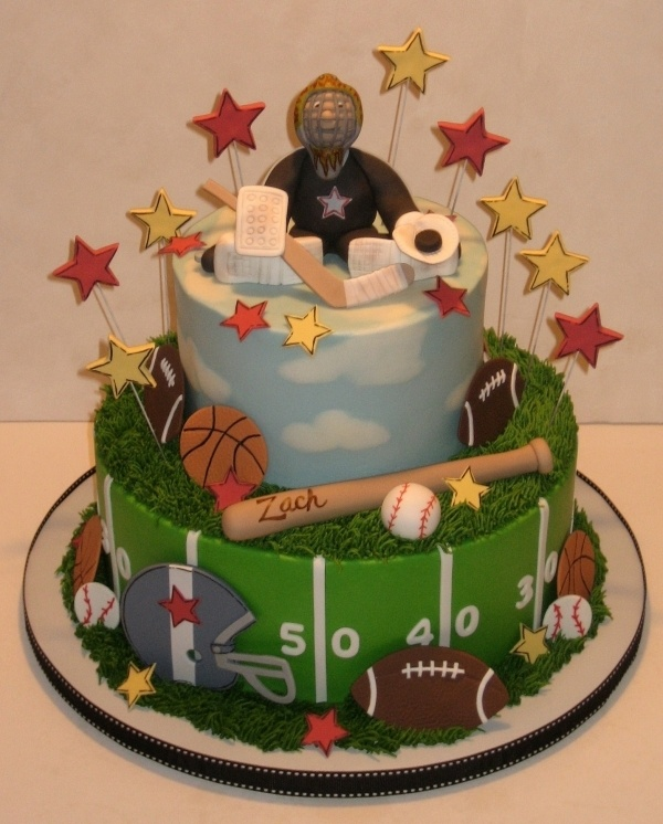 a sporty birthday cakeSports Birthday, Cake Ideas, Cake Decor, Parties Ideas, 2Nd Birthday, Sports Cake, Sporty Cake, Birthday Cakes, Cake Toppers