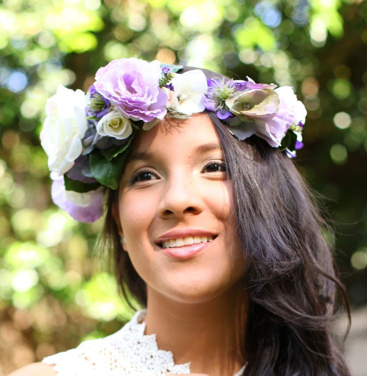 A personal favorite from my Etsy shop https://www.etsy.com/listing/227999244/silk-floral-crown-hydrangeas-lisianthus