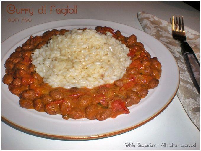 Curry di fagioli con riso