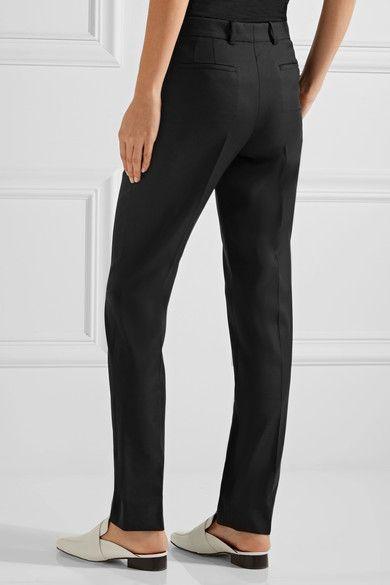 Joseph - Kong Super 100 Wool-twill Slim-leg Pants - Black - FR40
