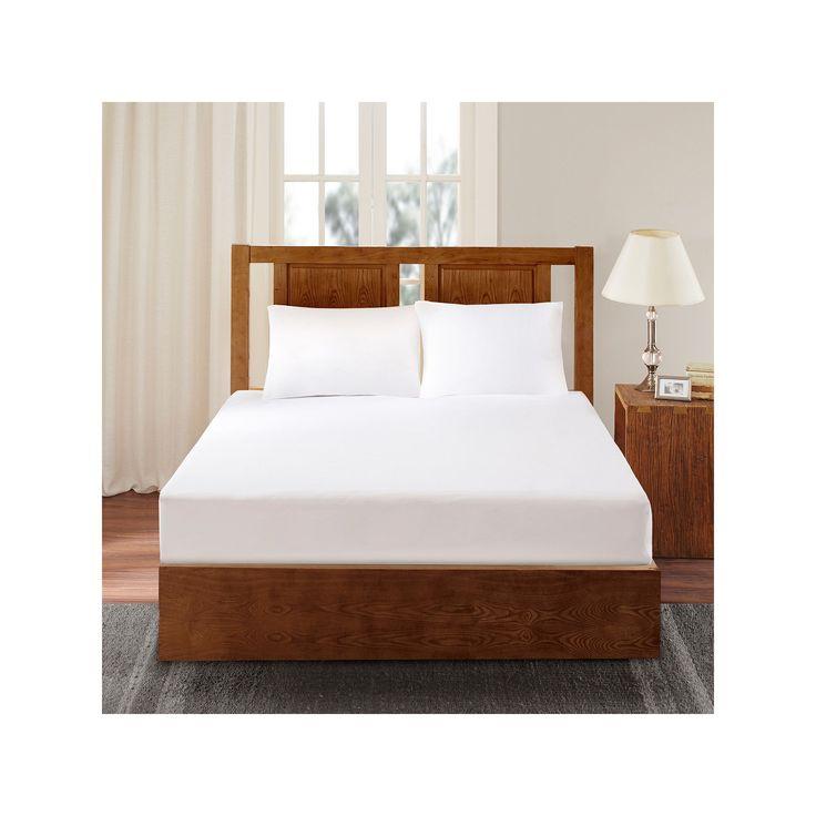 Bed Guardian by Sleep Philosophy 3M Scotchgard Mattress Protector, White