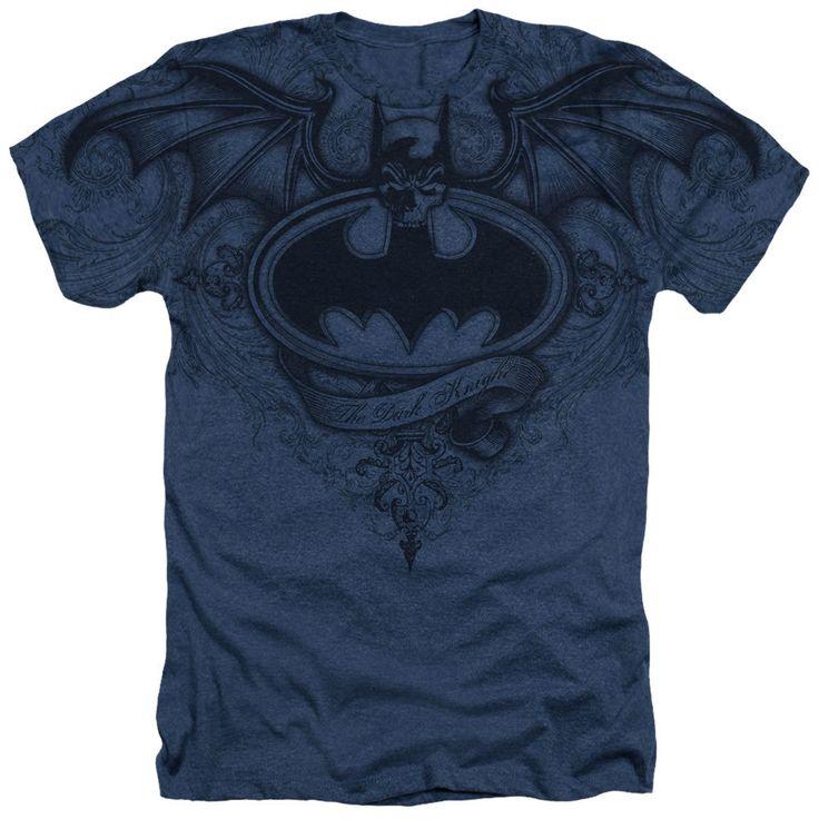 Simply Superheroes - Batman Winged Logo Sublimated Mens Heather T-Shirt
