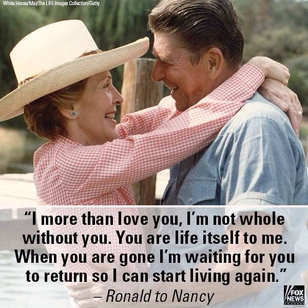 Ronald Reagan wrote love letters to his Nancy until the alzheimers claimed his faculties. An amazing love story.