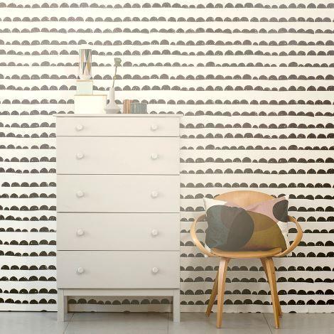Half Moon Wallpaper, by ferm LIVING. (non-woven fleece) [67,50€   10,05x0,53m]