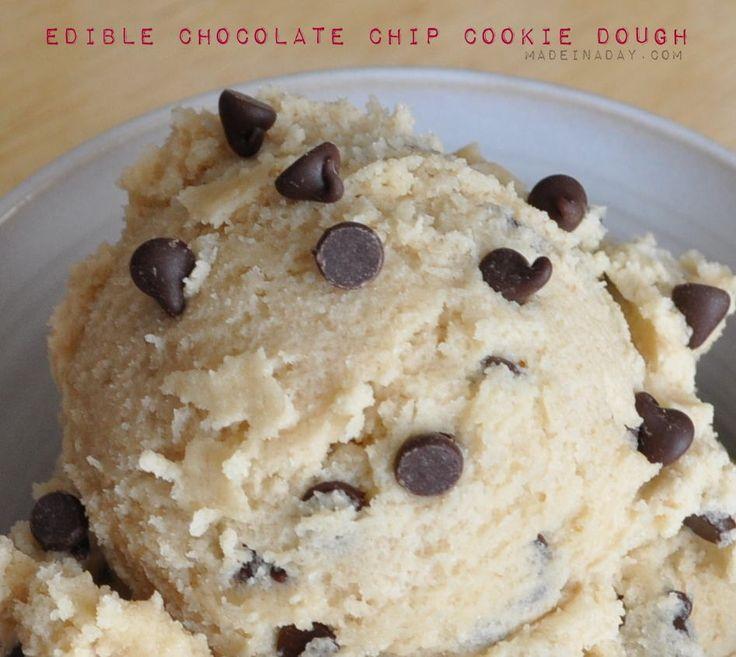 Edible Cookie Dough Recipe madeinaday.com