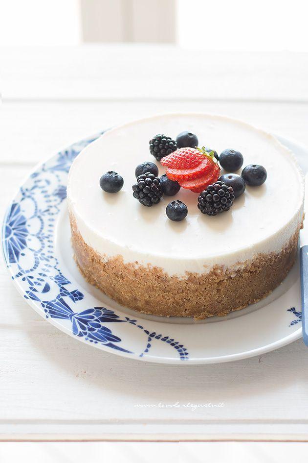 Cheesecake alla ricotta facile e veloce - Ricetta Cheesecake con ricotta - Ricotta cheesecake - Italian Cheesecake