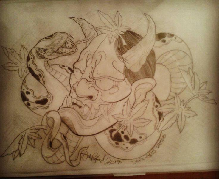Hannya and snake doodle.  #tattooed #tattoostyle #tattoo #tattoos #tattooideas #…