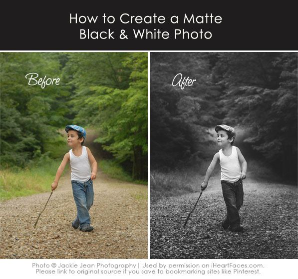 How to Create a Matte Black & White Photo {Photoshop Editing Tutorial}