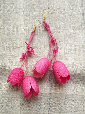 boucles d'oreilles cocons de soie