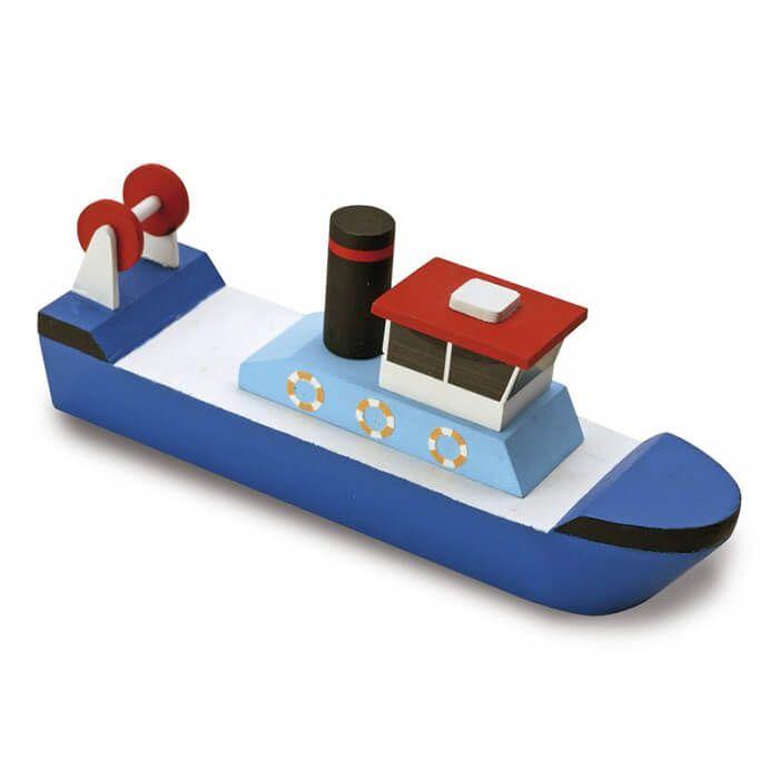Uniek hout modelbouw bootje om zelf te knutselen. Geschikt vanaf 5 jaar