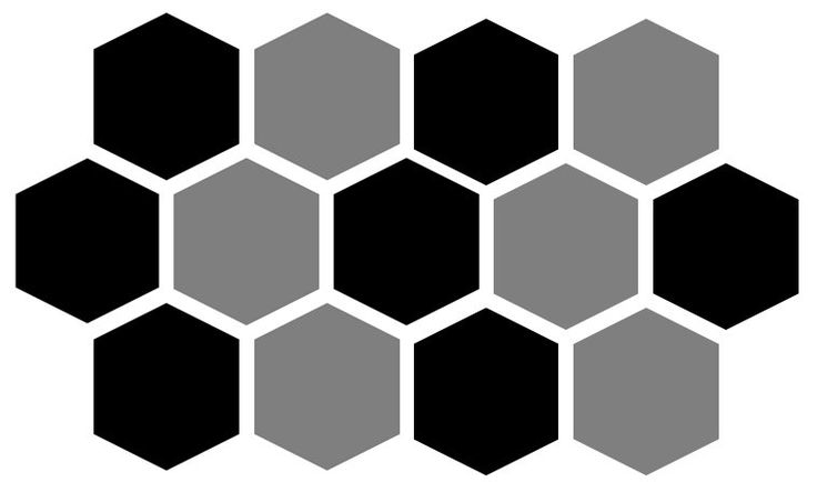 Honeycomb Pattern In Tile And Stone Parametric