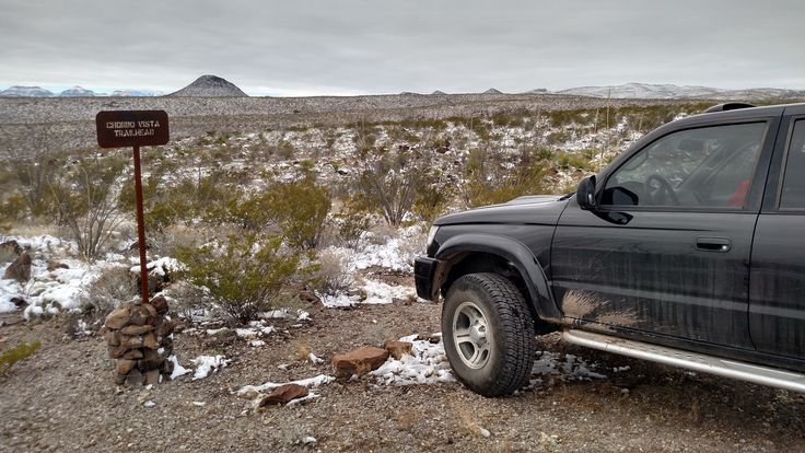 Big Bend Ranch State Park in a 2001 4Runner. The snow made for some great views and good hiking weather.